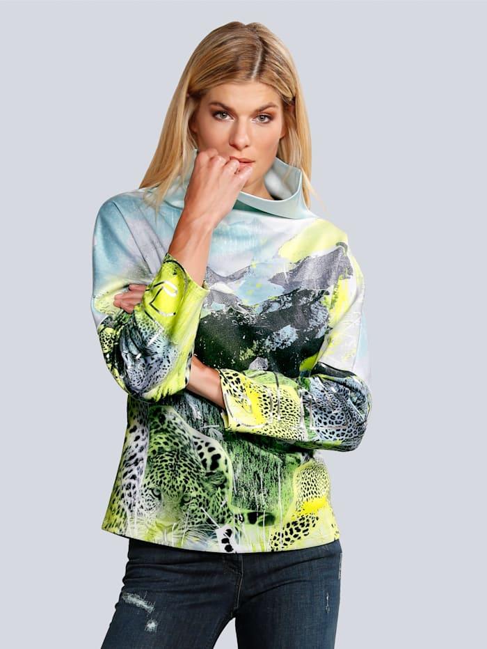 SPORTALM Sweatshirt im modischen Druck, Gelb