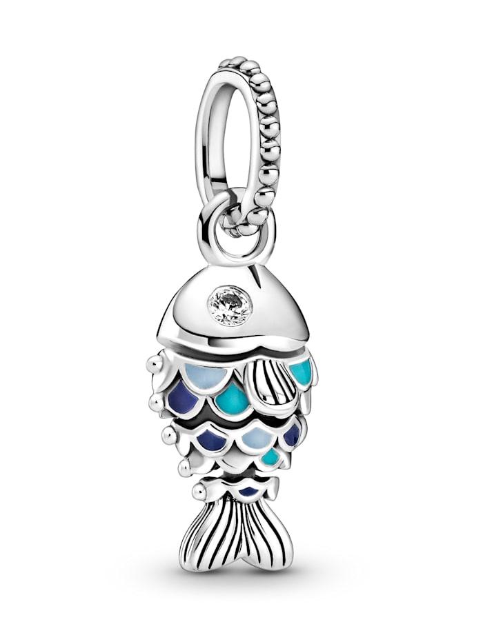 Pandora Charm-Anhänger - Fisch mit blauen Schuppen - 799428C01, Silberfarben