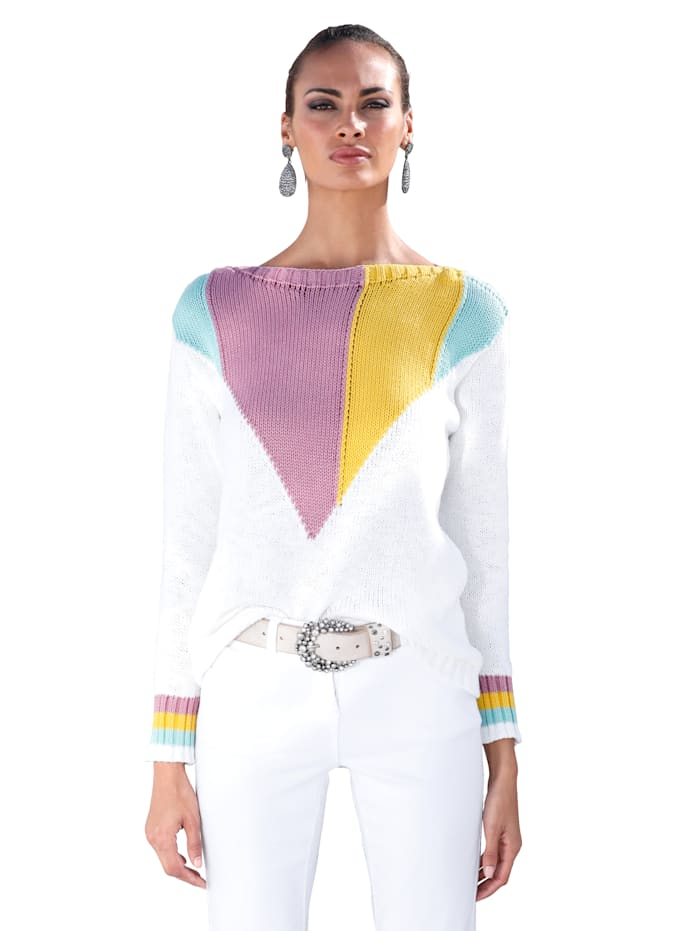 Pullover mit Colorblocking