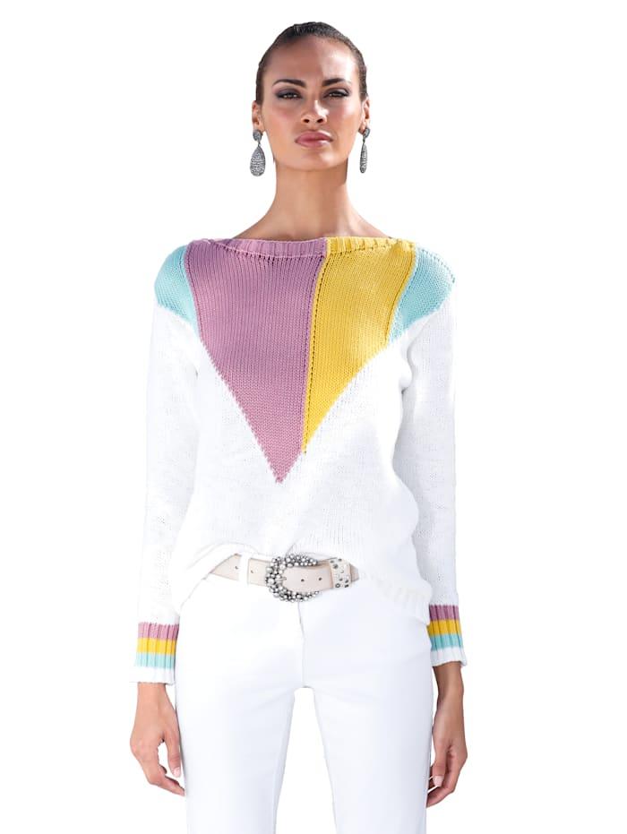 Väripalkillinen neulepusero