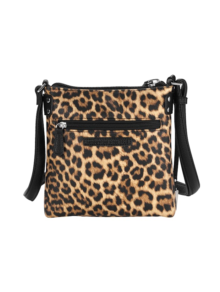Schoudertas met trendy animalprint
