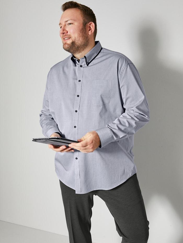 Men Plus Overhemd met speciale pasvorm, Grijs