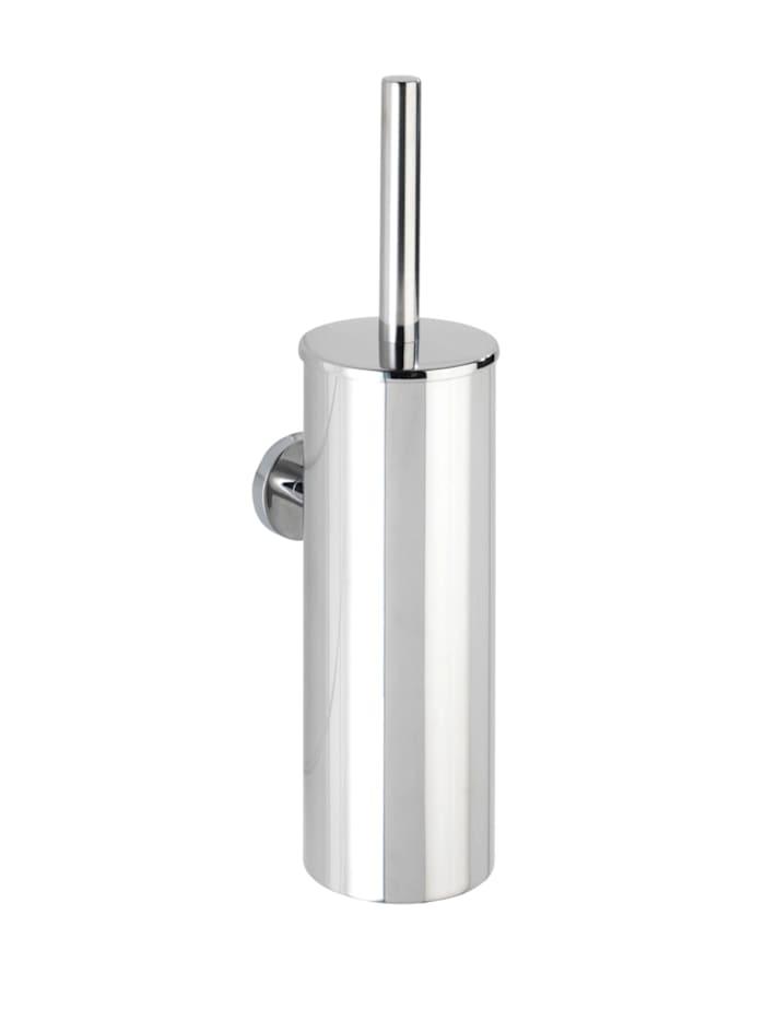 Wenko WC-Garnitur geschlossen Bosio Edelstahl glänzend, rostfrei, Glänzend, Einsatz: Schwarz