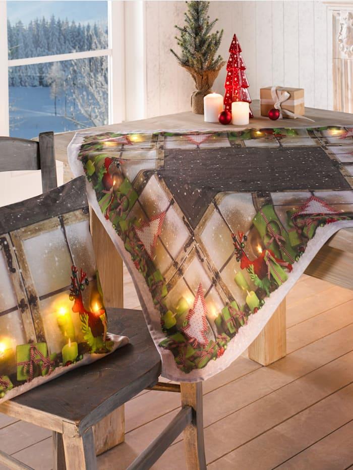 Schäfer Duk med LED-belysning, flerfärgad