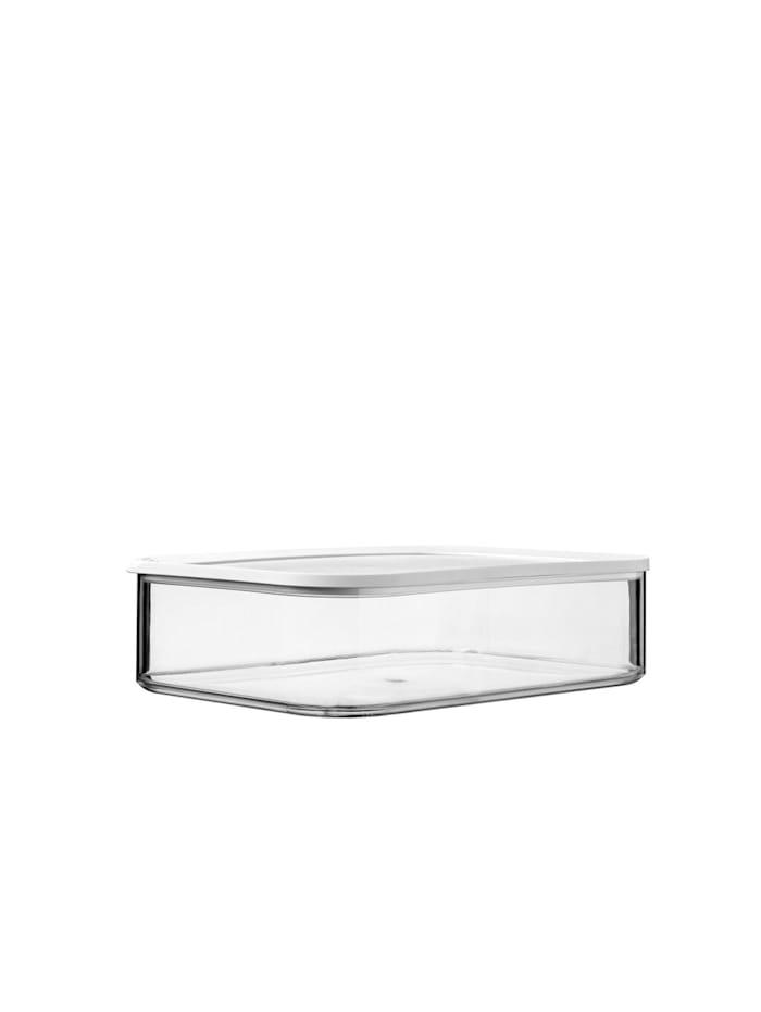 Rosti Mepal Frühstücksdose 4800 ml Modula XXL, Transparent, Weiß