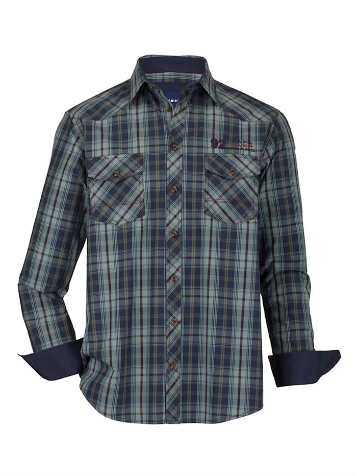 BABISTA Overhemd in trendy used look, Blauw/Rood