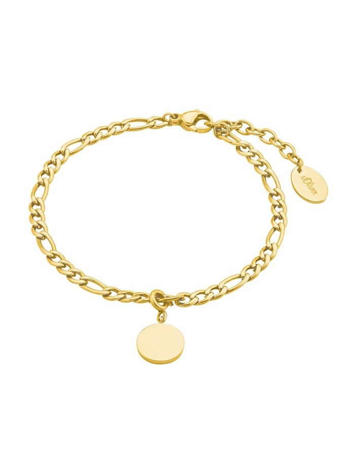 s.Oliver Armband für Damen, Edelstahl, Münze, Gold