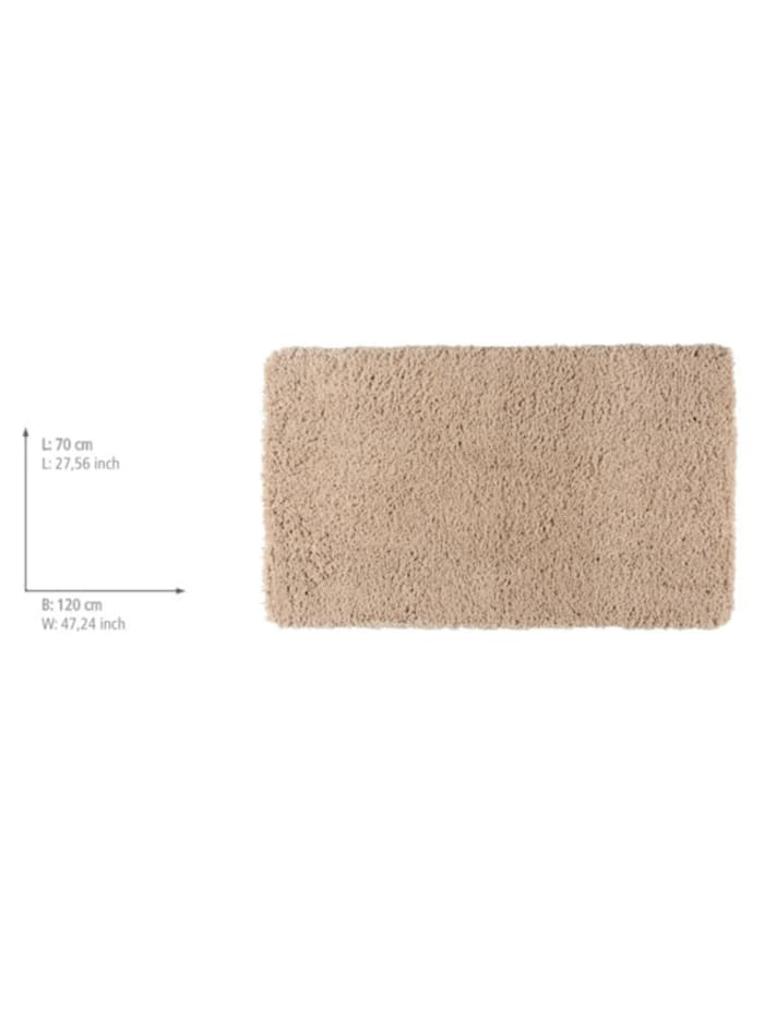 Badteppich Belize Sand, 70 x 120 cm, Mikrofaser