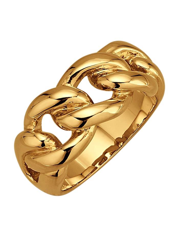 Golden Style Ketten-Ring vergoldet, Gelbgoldfarben
