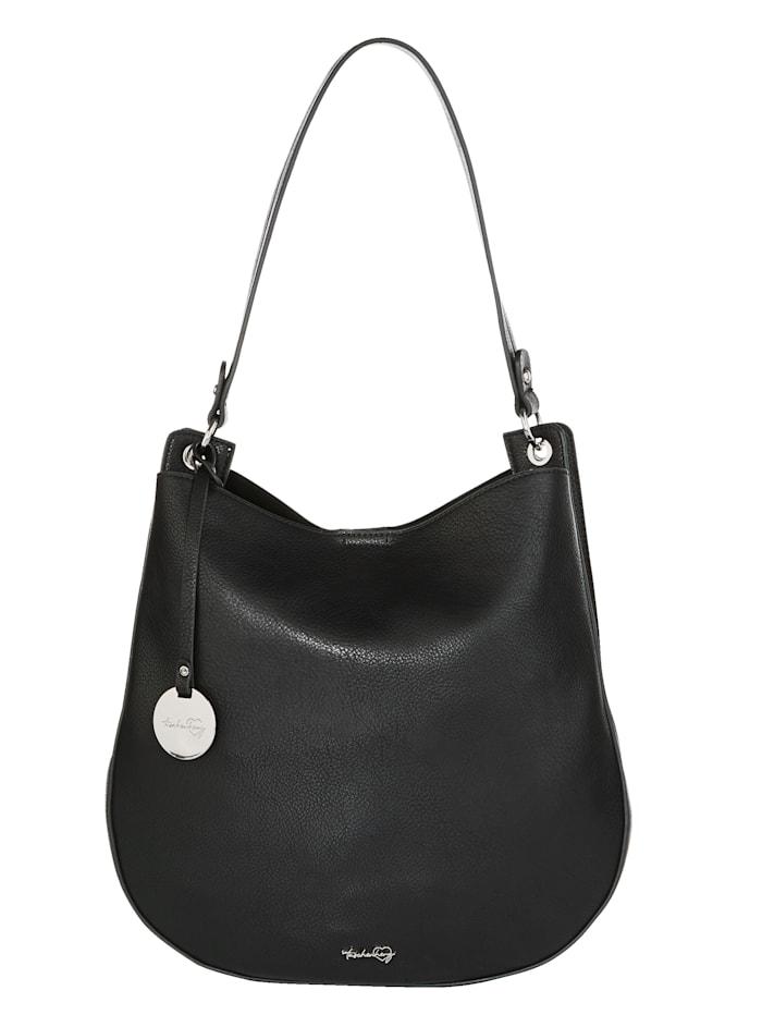 Taschenherz Shopper 2-delig met afneembare hanger met hartje 2-delig, Zwart