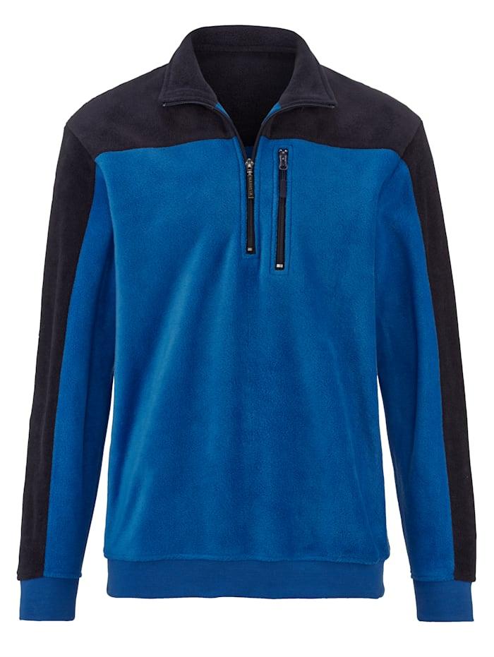 BABISTA Fleece trui met borstzakje, Royal blue