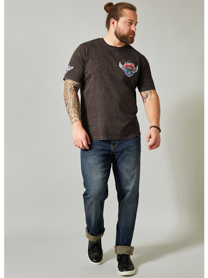 Men Plus T-shirt, Bruin