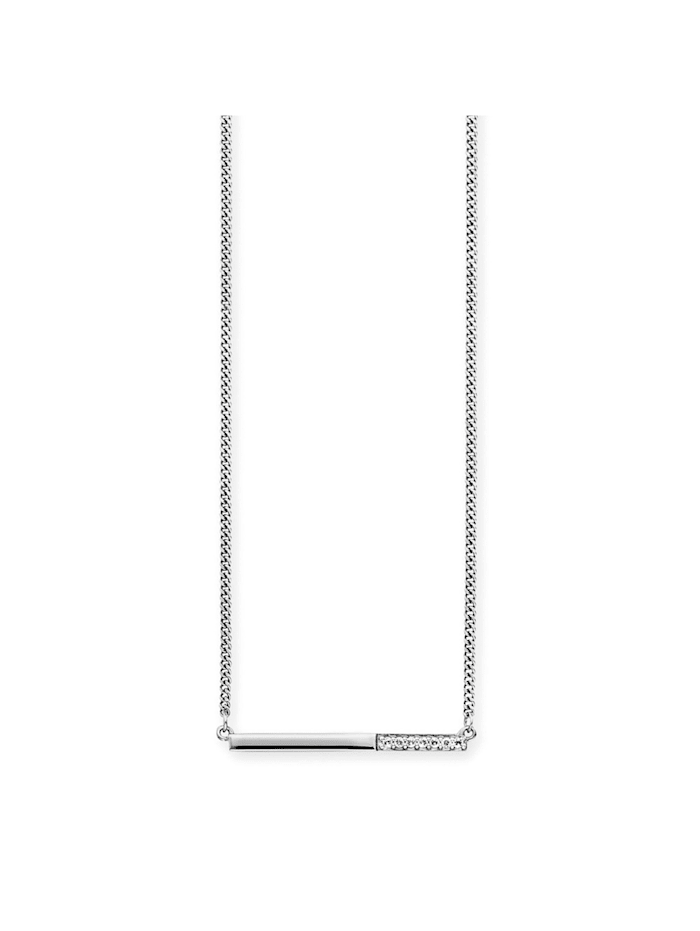 CAI Collier 925/- Sterling Silber Topas 42+3cm Glänzend 0,280ct, weiß