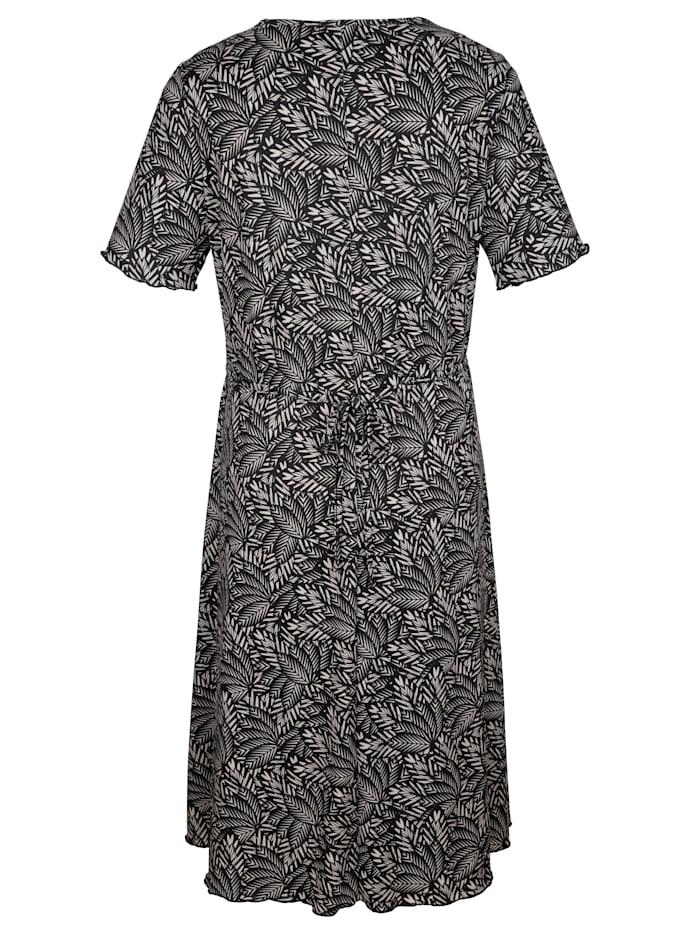 Jerseykleid mit floralem Druckdessin rundum