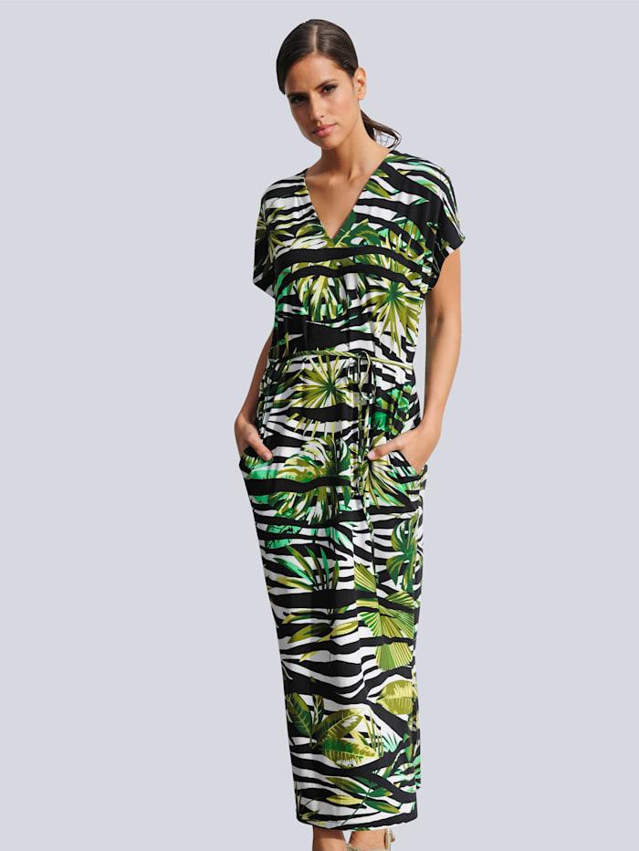 Alba Moda Strandkleid mit Bindegürtel, Grün