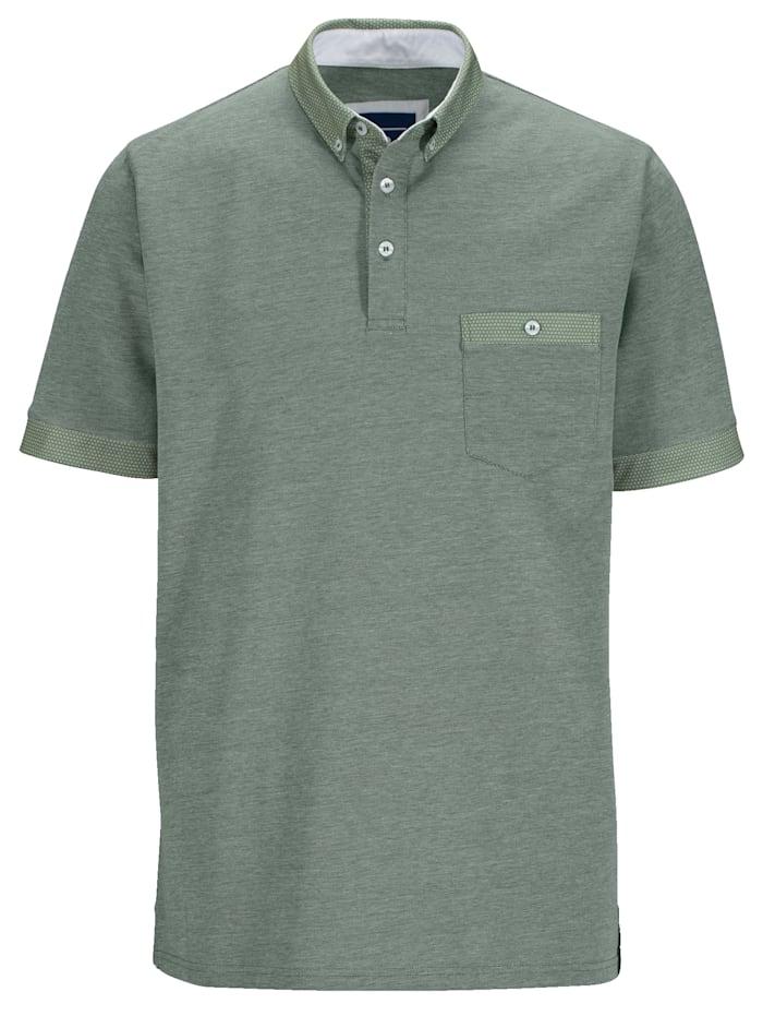 BABISTA Poloshirt in bicolor look, Groen