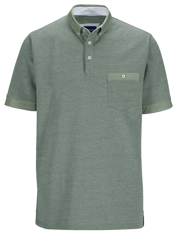 Poloshirt in zweifarbiger Optik