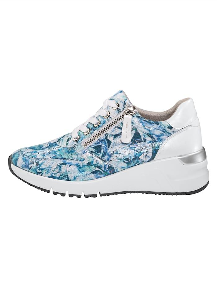 Sneaker mit Ristschnürung und seitlicher Reißverschluss