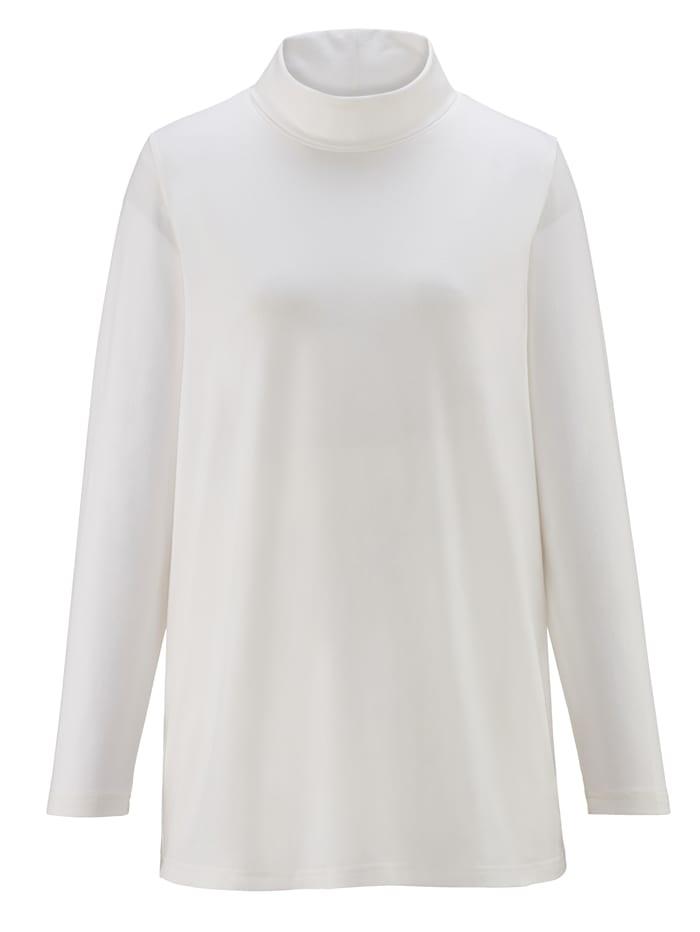 Shirt met col van single jersey
