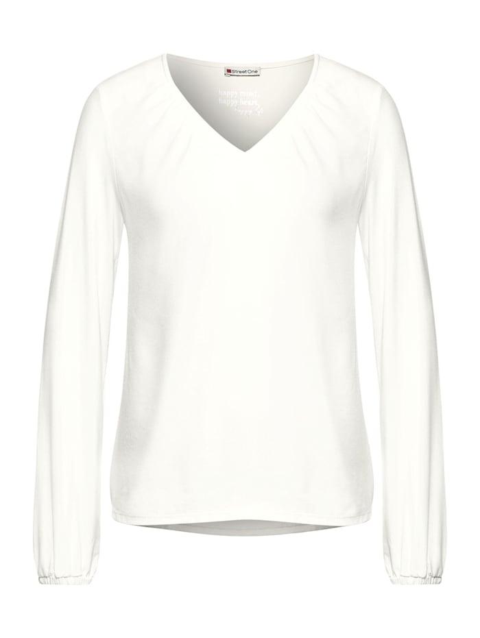 Street One Shirt mit Smok-Details, off white