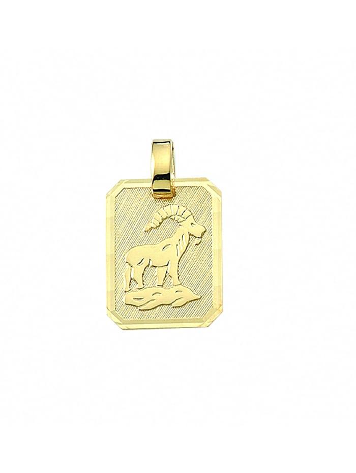 1001 Diamonds Damen & Herren Goldschmuck 333 Gold Sternzeichen Anhänger Steinbock, gold