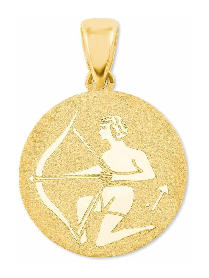 amor Anhänger Unisex, Gold 375, Schütze, Gold