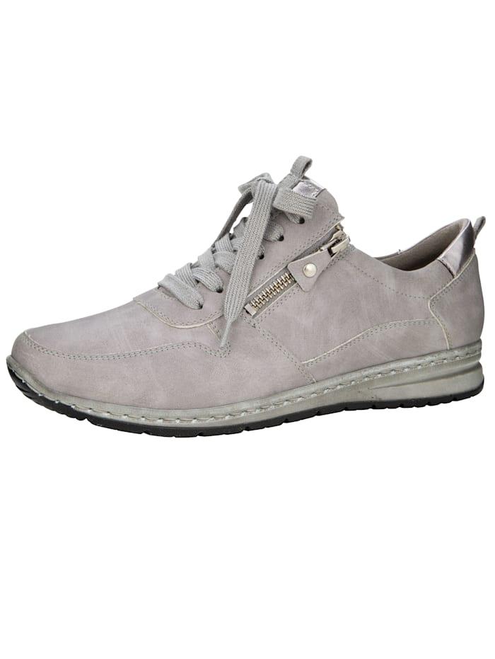 Jenny Sneakers à lacets légèrement scintillants, Gris clair
