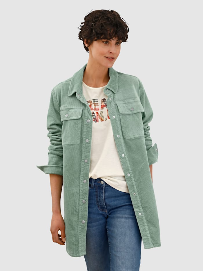 Dress In Jacke aus Cord, Salbeigrün