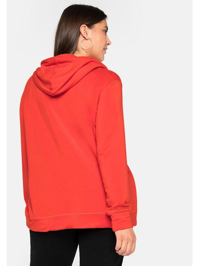 Sheego Sweatshirt mit 3D-Druck vorn