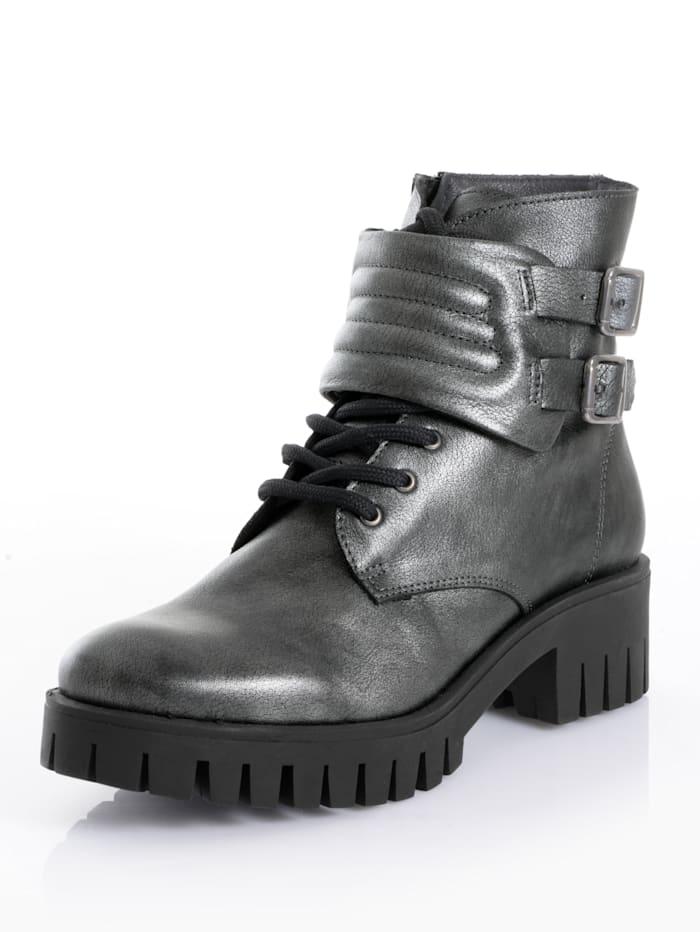 Alba Moda Boot in metallic look, Antraciet