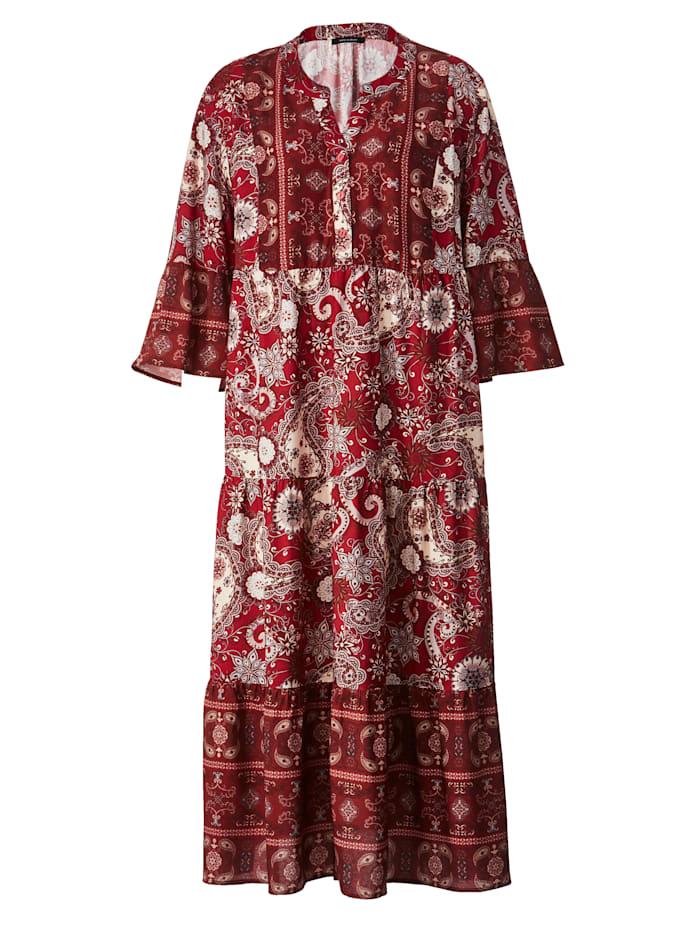 Web-Kleid im schönen Mustermix