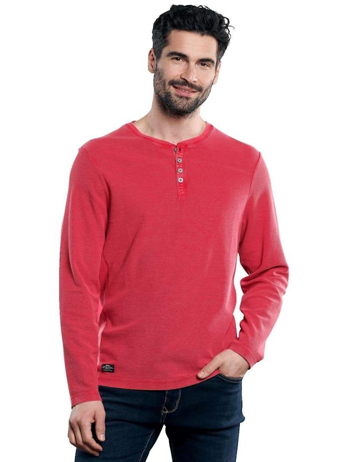 Engbers Henley Shirt, Tomatenrot