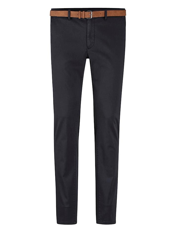 BABISTA Pantalon chino Livré avec ceinture assortie, Marine