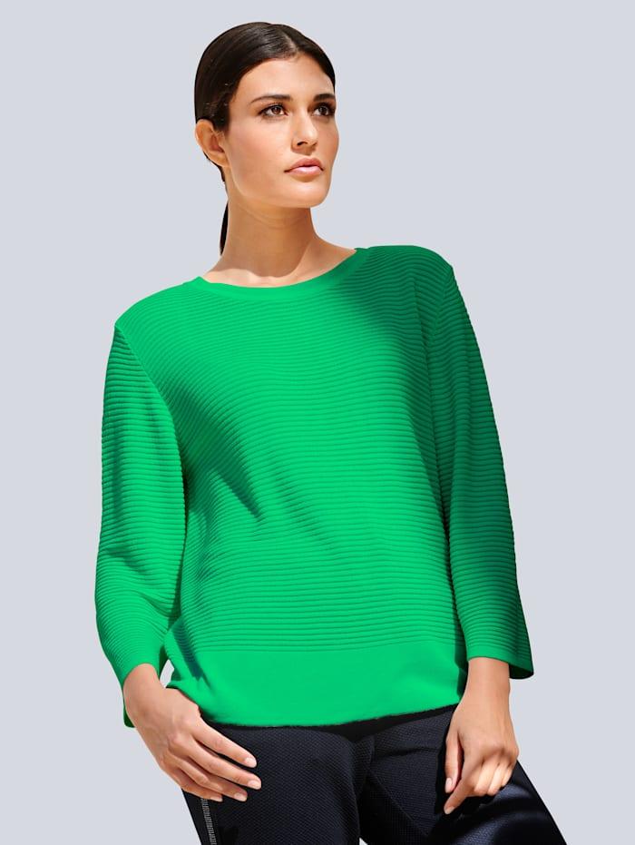 Alba Moda Pullover mit Struktur, Grün