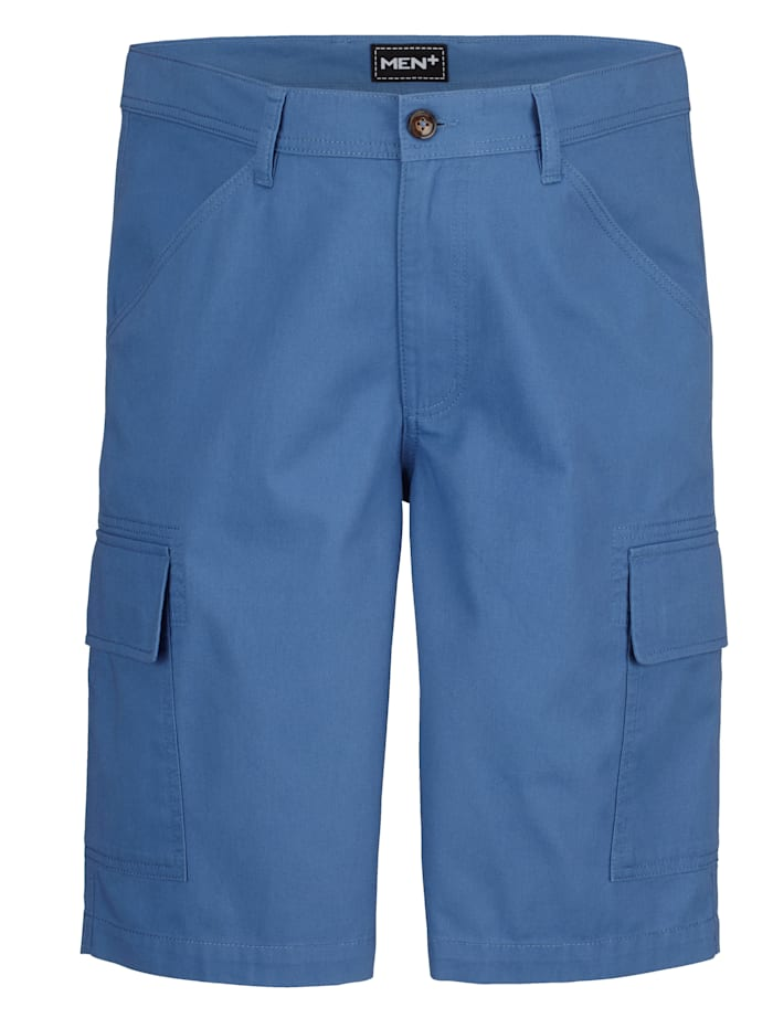 Men Plus Cargo Bermuda Regular Fit, Hellblau