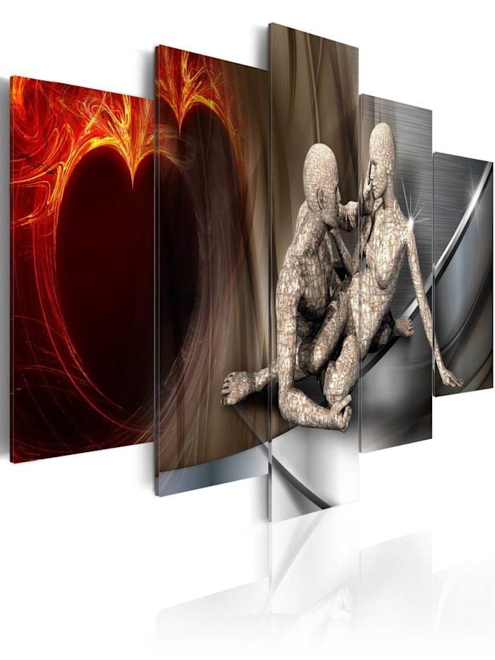 artgeist Wandbild In dreams, Braun,Grau,Orange,Silber