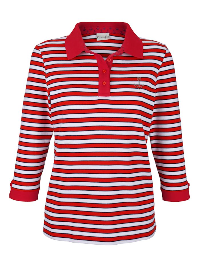 Dress In Polo d'aspect rayé, Rouge
