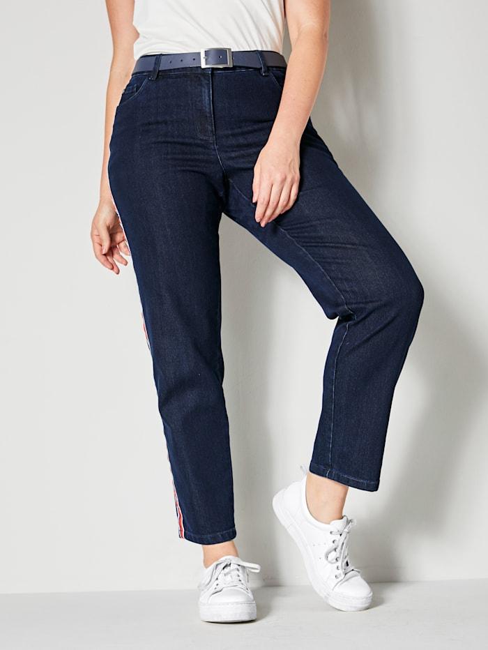 Jeans met band opzij