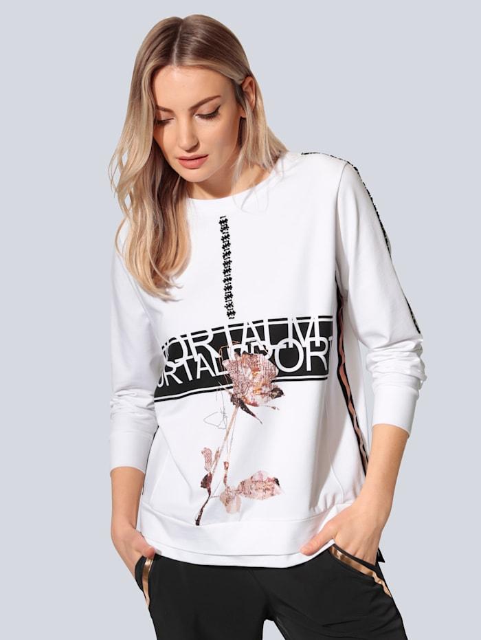 SPORTALM Sweatshirt mit Perlen verziert, Weiß
