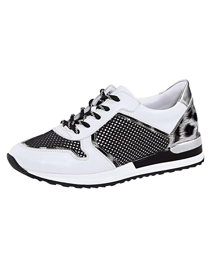 Remonte Sneaker in extravagante look, Wit