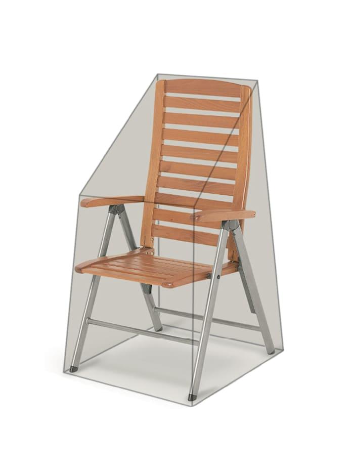 Grasekamp Black Premium Hochlehnerhülle  60x74x112cm / stacking chair cover /  atmungsaktiv / breathable, Schwarz