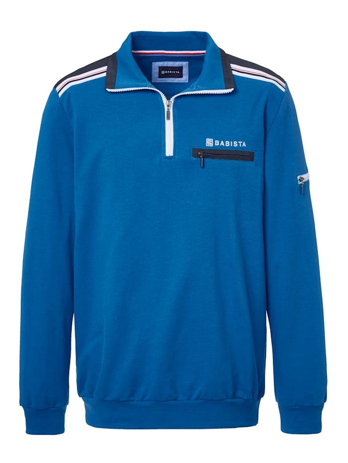 BABISTA Sweatshirt met hoogwaardige details, Royal blue