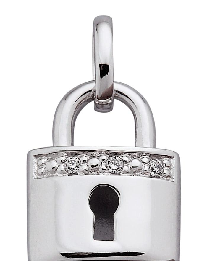 AMY VERMONT Hanger met diamanten, Witgoudkleur