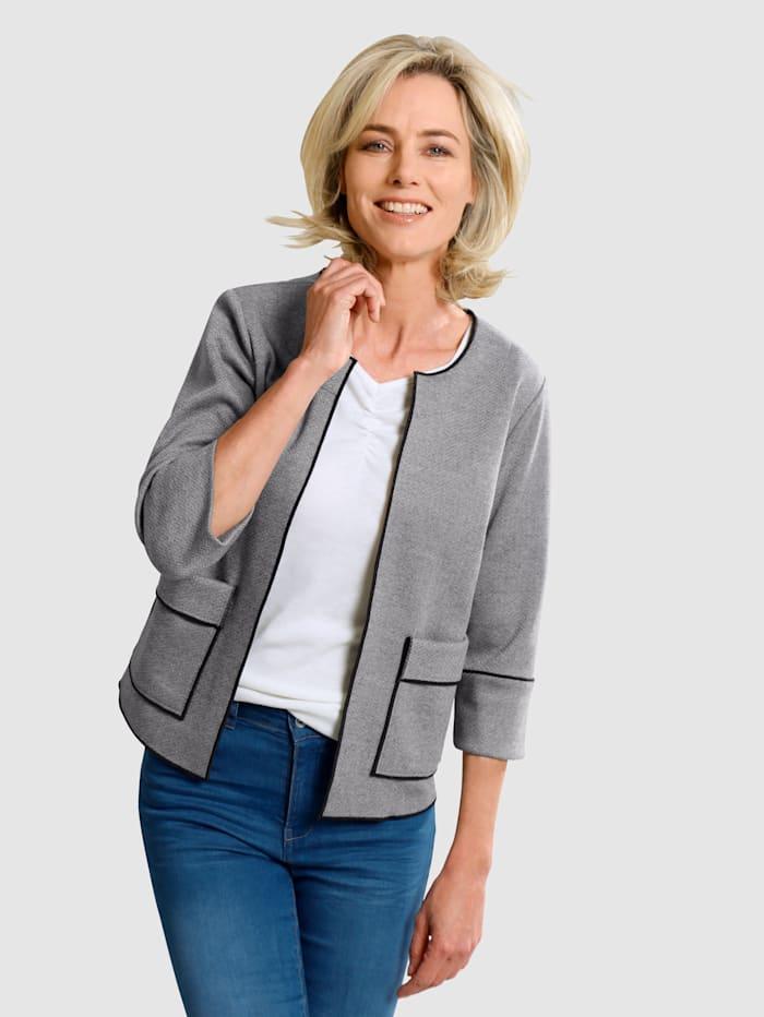 Dress In Blazer in offener Form, Grau