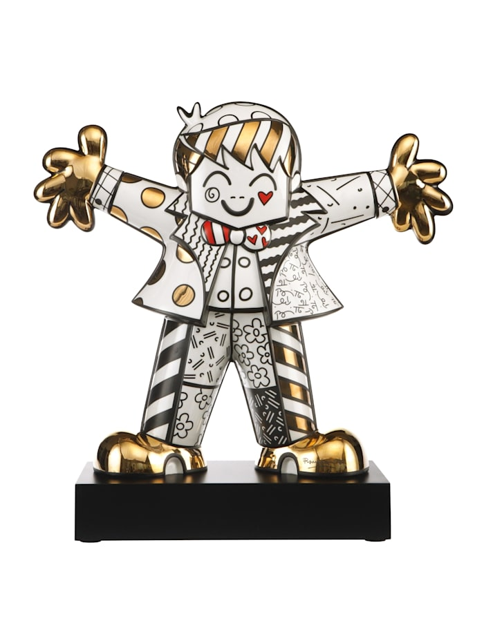 "Goebel Goebel Figur Romero Britto - ""Golden Hug Too"", Bunt"
