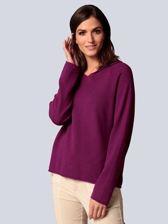 OUI Pullover mit Kapuze, Violett