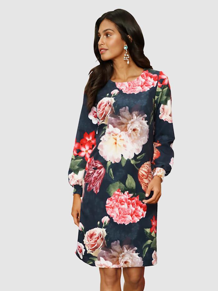AMY VERMONT Kleid mit floralem Druck, Schwarz/Multicolor