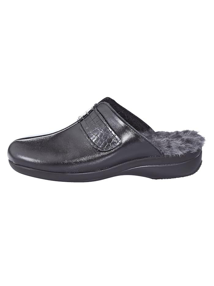 Pantoffel mit verstellbarem Klettverschluss