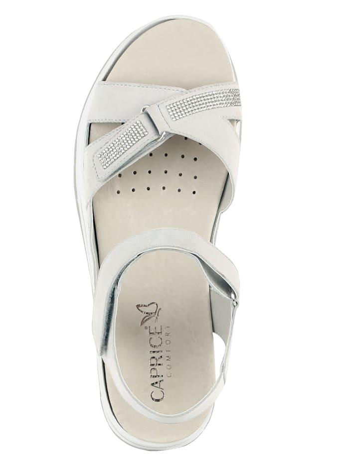 Sandal with glittering ribbon