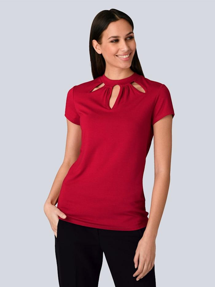 Alba Moda Shirt mit modischen Cut-Outs, Rot